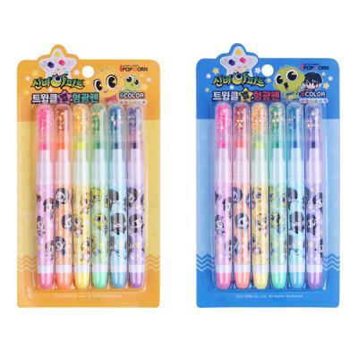 신비아파트  6색 반짝이 형광펜