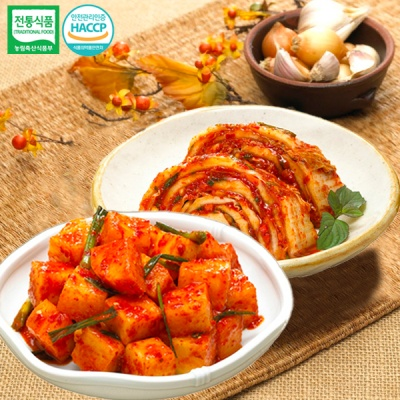 [명가김치] 국내산 맛김치 5kg+깍두기 3kg