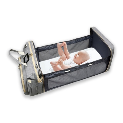 휴대용 가방형 출산선물 기저귀가방 접이식 아기침대