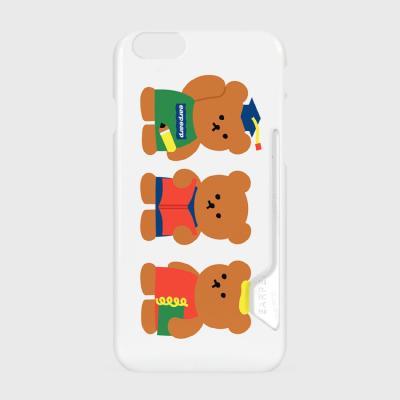 Smart bear friends-white(카드수납케이스)