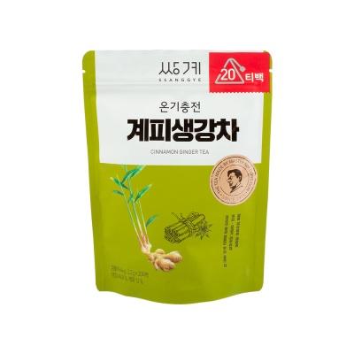[쌍계명차] 파우치 온기충전 계피생강차 20티백