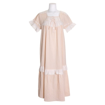 [쿠비카]바스트 이중 레이스 원피스 여성잠옷W746