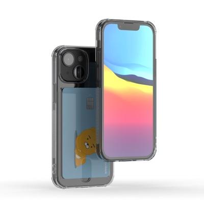 아이폰 13 mini 아이스핏 에드온 TPU 투명 카드케이스
