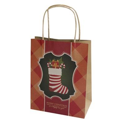 [크리스마스포장] 크라프트 쇼핑백(양말)