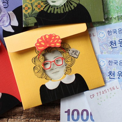 방긋 미니 돈봉투 - 신사임당 / 013-ME-0002
