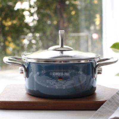 독일 프리미엄 주방용품 오메라스의 범랑 냄비 슈베르터 에나멜 쿠쉬탑퍼 16cm 양수냄비 [인덕션 가능]