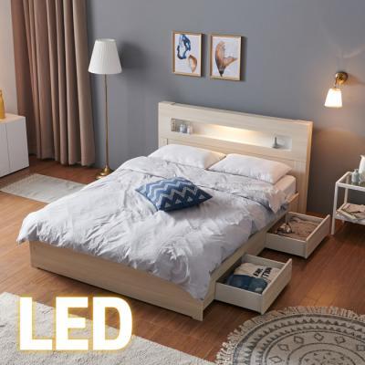 홈쇼핑 LED/서랍 침대 Q (양면스프링매트) KC199