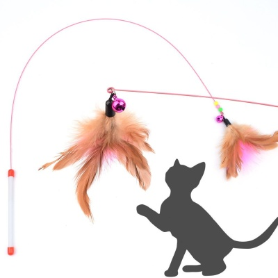 깃털 낚시대 스틱 고양이 장난감 애묘장난감