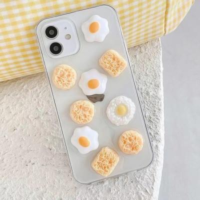 아이폰 12 11 pro max x se2 7 입체 음식 투명 케이스