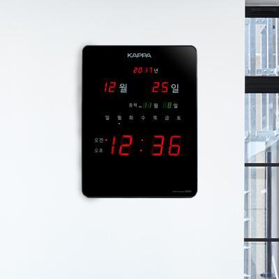 카파 D3950 블랙 고휘도 슈퍼 레드LED 디지털벽시계