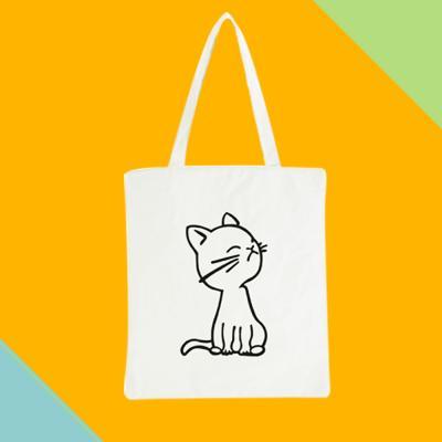 고양이 캔버스백 에코백 보조백 쇼퍼백 가방
