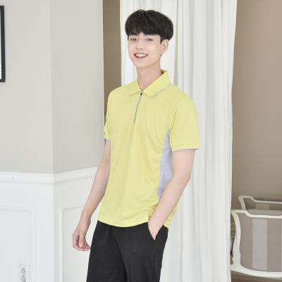 [긴팔가능] 쿨론 원단 옆 배색 카라티셔츠 (6color)