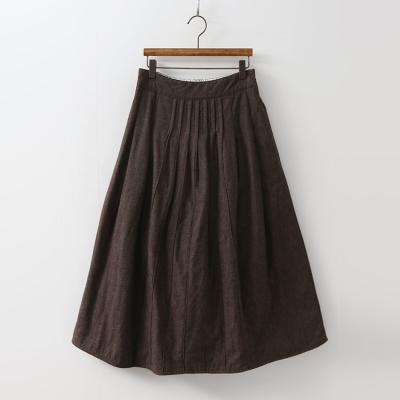 Cotton Padding Full Long Skirt