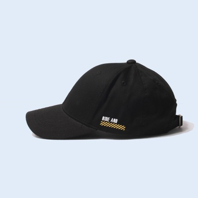 RIDE & WATCH OUT BALL CAP - BLACK