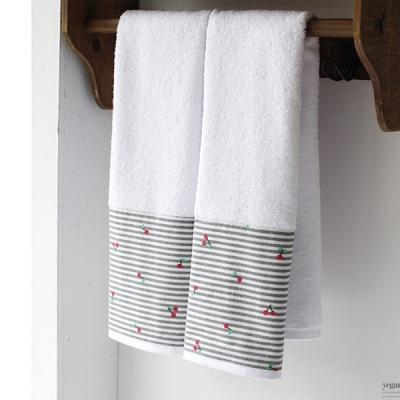 [2HOT] 체리 욕실수건 2P
