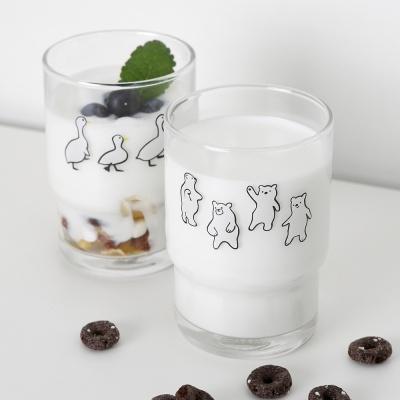 ANF 유리컵 - 곰과 오리