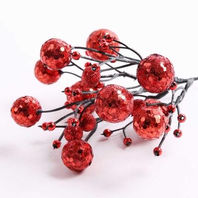 트리장식 포인꽃 열매 (레드)