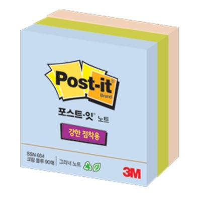 포스트잇 654SSN(3색)슈퍼스티키 124391