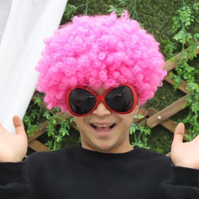 점보 삐에로 가발 (핑크)