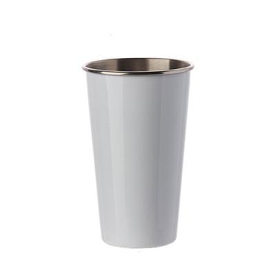 카페테리아 라떼 스텐 잔 1개(색상랜덤)
