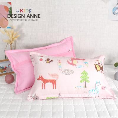 [디자인엔] 순면 애니멀즈 아동솜베개-핑크
