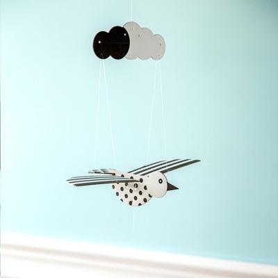 [버드힐링모빌 시즌2] 날갯짓하는 새모빌 흑백새