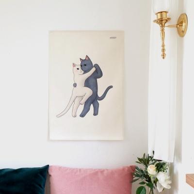 탱고 일러스트 패브릭 포스터 / 가리개 커튼