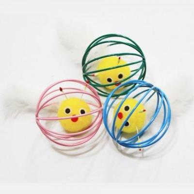 고양이 장난감 공 와이어볼 벌레 잡기 놀이 토끼털