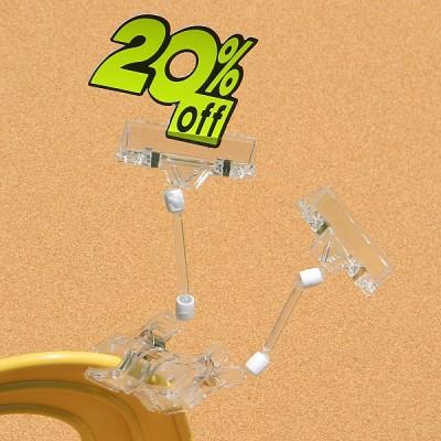 상품 상세설명,가격표시는 POP 카드클립으로-Union PLUS 쇼클립 집게(대)클립(50봉) 2개입 4025