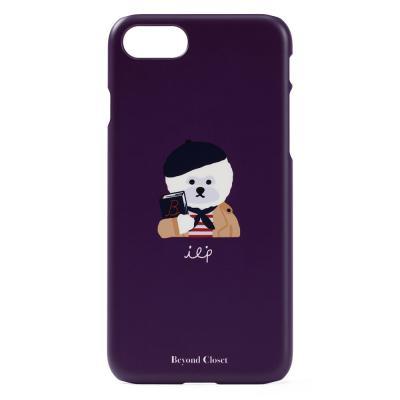 비욘드클로젯x매니퀸 ILP 로고 아이폰8 케이스 퍼플