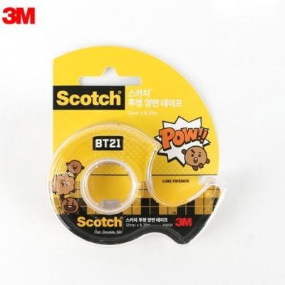투명양면테이프 BT21 슈키 386869