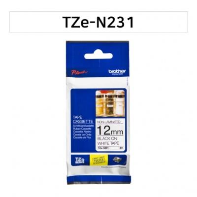 브라더 라벨테이프 NO코팅 TZe-N231 -NO코팅 9mm