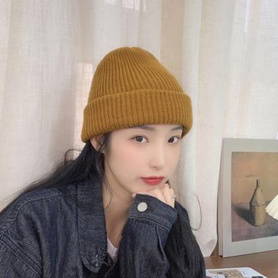 데일리 패션 비니 카멜 니트 숏비니 모자
