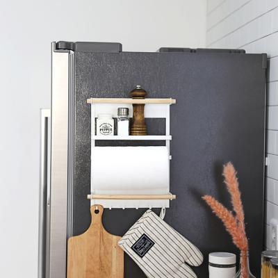 심플 우드 냉장고 수납선반