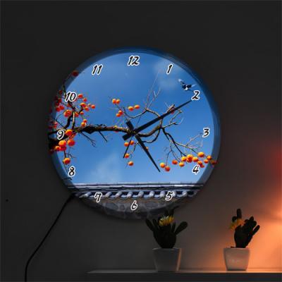 ng171-LED시계액자35R_돈들어오는감그림