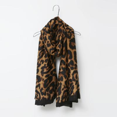 Black Leopard Scarf