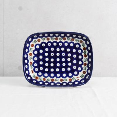 폴란드그릇 아티스티나 라운드직사각접시(소) 패턴70