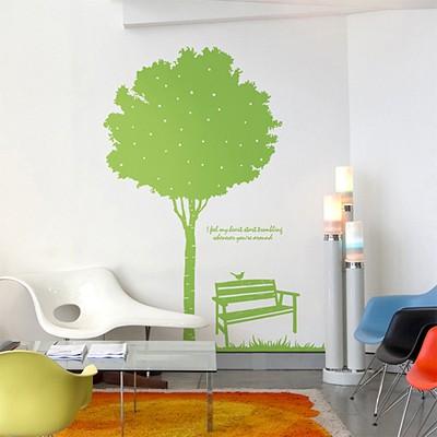 스윗스토리(나무)  (반제품C)  그래픽스티커 포인트 시트지 인테리어 스티커
