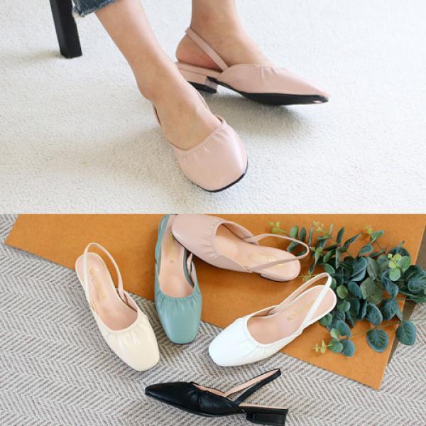 [애슬릿]빅사이즈 스퀘어 여성 슬링백 샌들 2cm