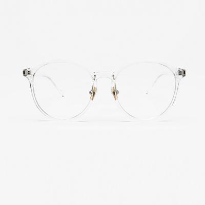 shine 투명 원형 얇은 뿔테 안경 뿔테 패션안경