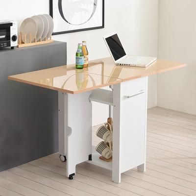 [랜선할인]폴딩 테이블 식탁(하이그로시600) KD454