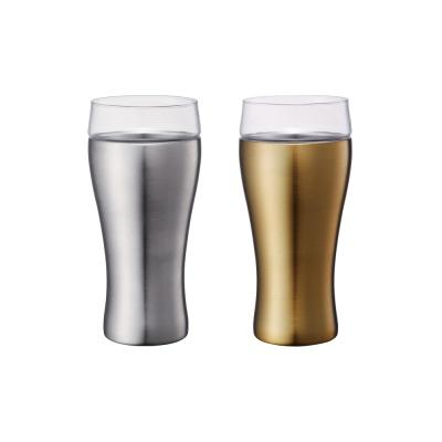 온도존 하이브리드 스테인레스진공컵 - 골드 420ml