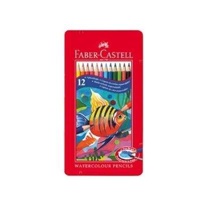 [파버카스텔] 틴수채색연필12색 [세트/1]  86001