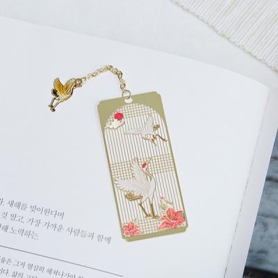 전통문양 체인장식 책갈피 북마크 기념품 선물 24K GP