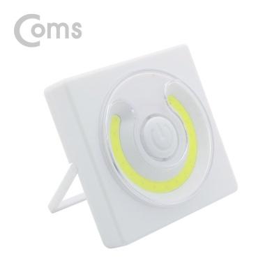 Coms LED 스위치 벽면등 사각원형 16LED AAA건전지