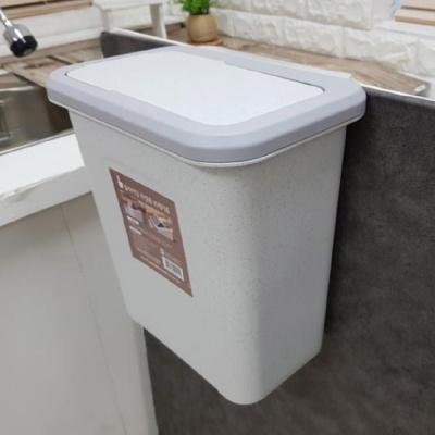 간편 사용 싱크대 걸이형 청결 주방 푸쉬 쓰레기통
