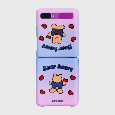 Gradation Bear heart-blue/purple(Z플립-하드)