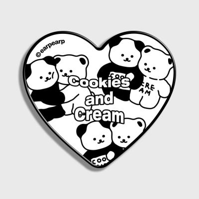 Cookie cream pattern-white(하트톡)