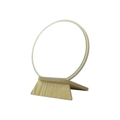 지수 원목 원형 거울 탁상거울 책상거울 거치거울