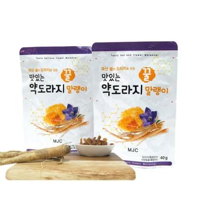 [하루의행복] 맛있는 꿀 약도라지 말랭이 40gx3팩